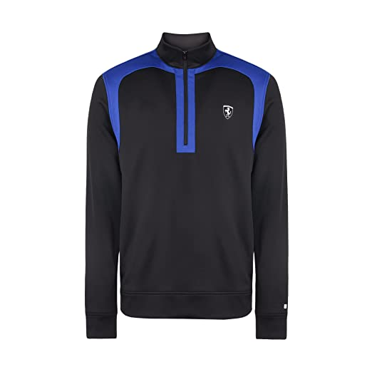 0479f441bca1 Amazon.com  Ferrari Men Inspirational Half Zip Sweatshirt Black ...