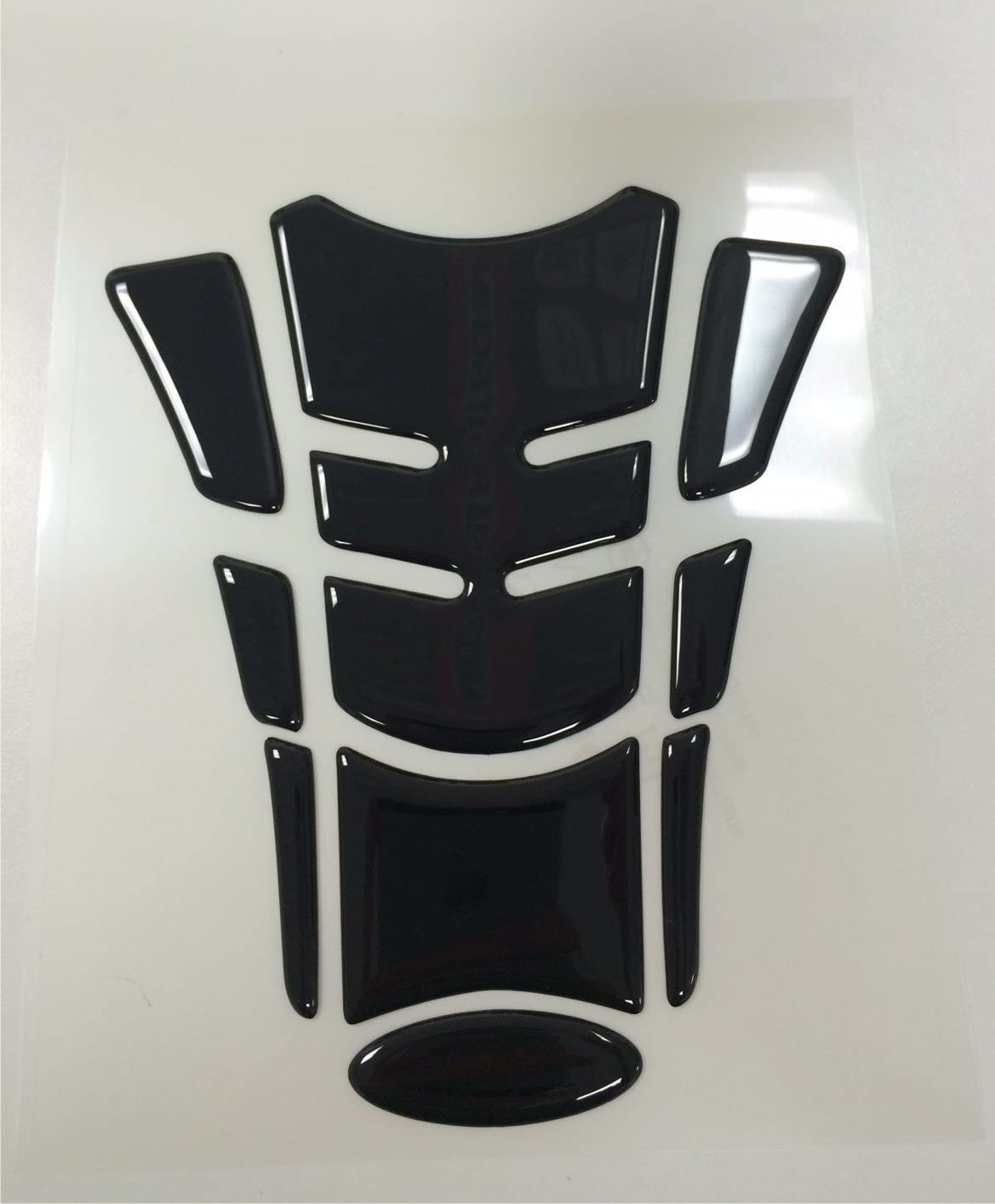 Exact Fit Yamaha YZF R3 YZF-R3 Black 3d Gel Motorcycle Gas TanK pad Protector Guard 7 inch tall x 6 inch wide