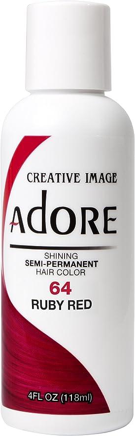 Adore - Tinte semipermanente y brillante, 64 Ruby Red