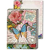 Window Pocket Notepads- Pink and Butterfly