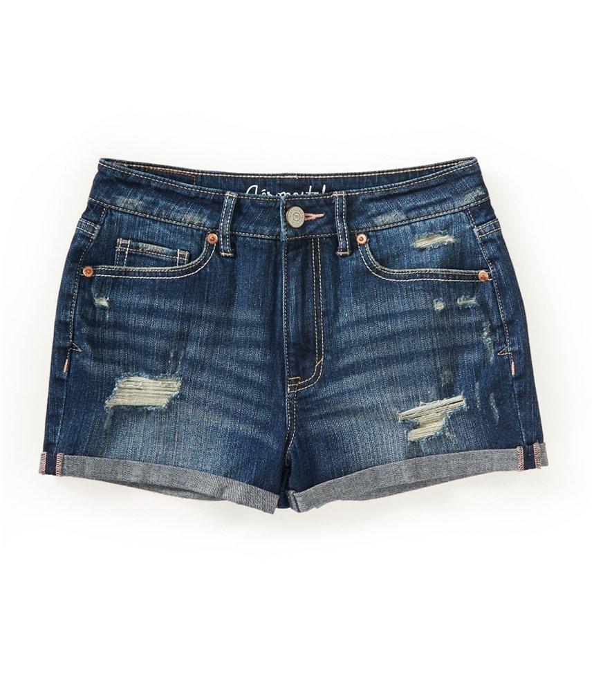 Aeropostale Womens High-Rise Shorty Casual Mini Shorts Blue 0 - Juniors