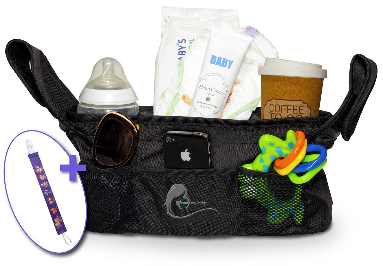 785ef01ba8cf Stroller Organizer Bag, Extra Storage, Universal- Best Quality, Bag for  Diapers & Accessories - Includes...