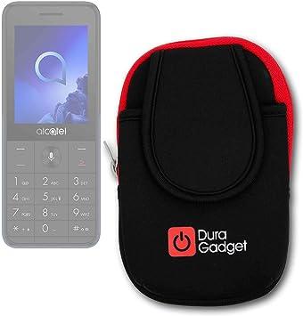 DURAGADGET Brazalete Deportivo Negro Y Rojo Compatible con Smartphone Alcatel 3088 4G: Amazon.es: Electrónica