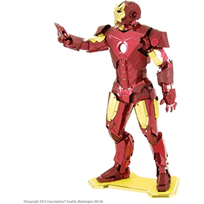 Fascinations Metal Earth Marvel Iron Man 3D Metal Model Kit: Toys & Games