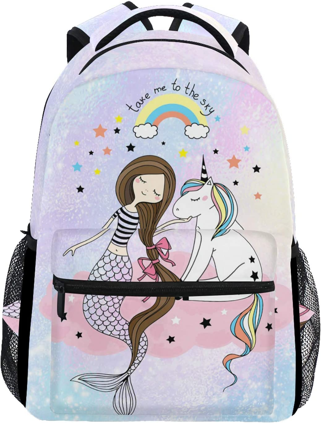 Backpack for Girls Chasechic Water-Resistant Toddler Backpack for Kids Preschool Backpack with Chest Strap Mermaid