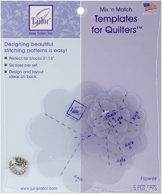 June Tailor Mix/'n Match Templates For Quilters 6//pkg-flower