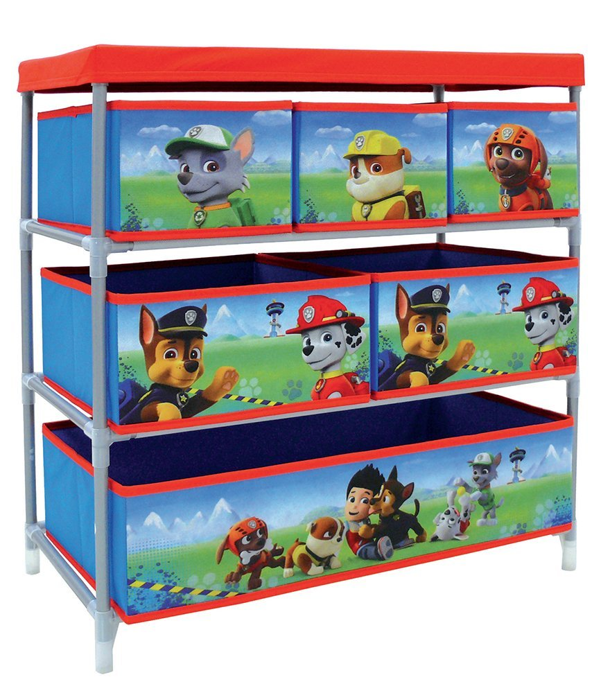 Fun House 712537 Pat Patrol Storage Shelf with 6 Compartments, for Children CIJEP