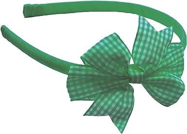 "Bow Hair Clips /& Elastic Bobbles 3/"" /& 5/"" Gingham School Alice Bands Headbands"