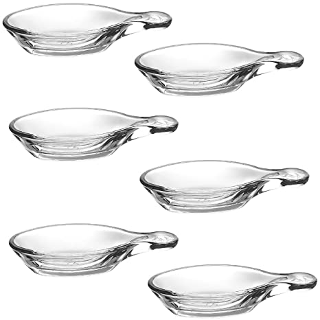 Pasabahce 1613802 – Lote de 6 sartenes (para aperitivo (cristal transparente 25 x 18