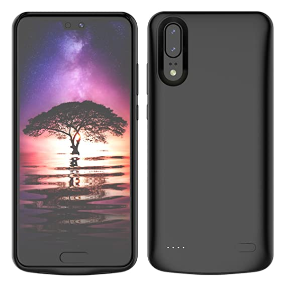 Compatible Huawei P20 Battery Battery Case, Rechargeable External Battery Portable Power Charger Protective Charging Case Replacement for Huawei P20 ...