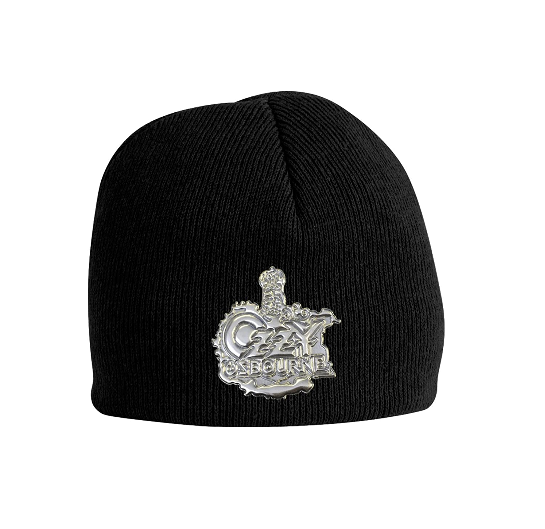 Ozzy Osbourne Beanie Hat Metal Crest Logo Official Black