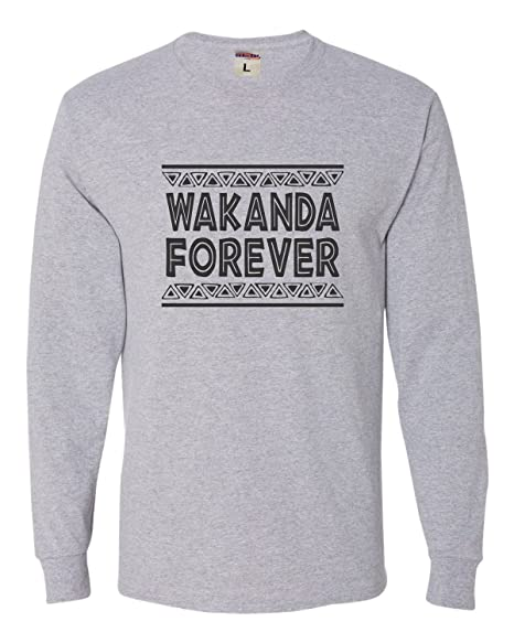 b99882f66 Small Athletic Heather Adult Wakanda Forever Long Sleeve T-Shirt
