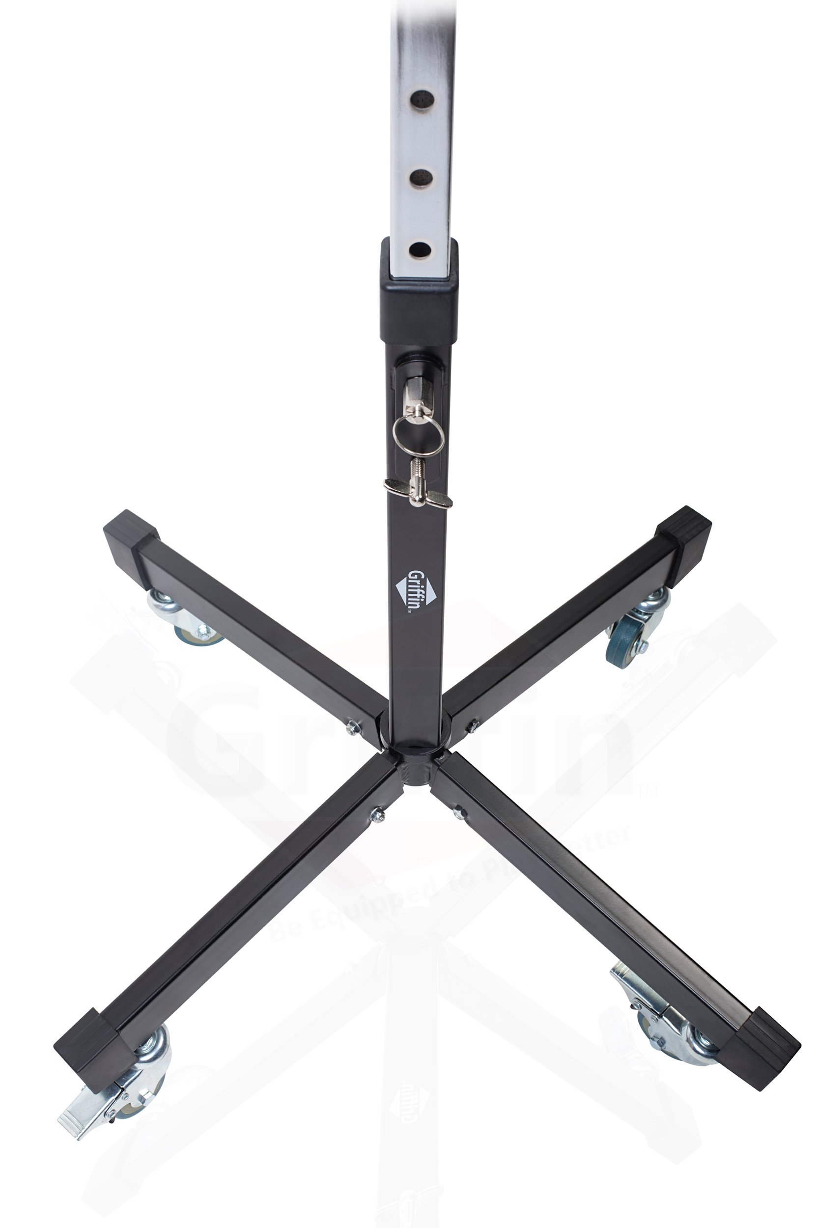 Mobile Studio Mixer Stand DJ Cart by Griffin | Rolling Standing Rack On Casters with Adjustable Height|Portable Turntable | Protect Your Digital Audio Gear and Music Equipment|Heavy Duty Construction by Griffin (Image #3)