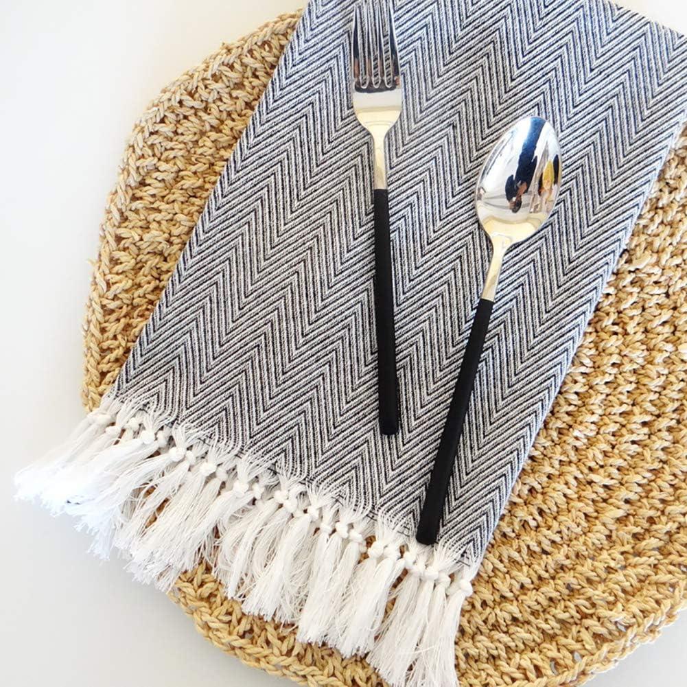 WE-WIN - Mantel individual de algodón tejido lavable a máquina con ...