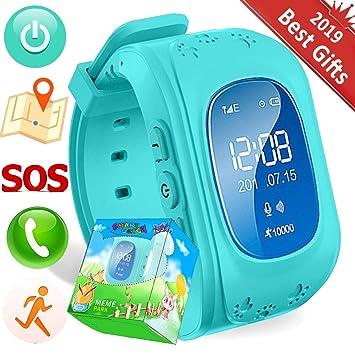 TURNMEON Smart Watch Enfants Montre Connectées GPS Locator Tracker Téléphone Anti-perte SOS Poignet Bracelet