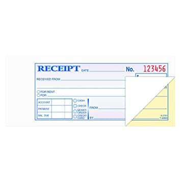 Amazoncom TOPS MoneyRent Receipt Book Part Carbonless - Ehf format invoice for service business