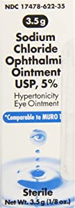 Akorn Sodium Chloride 5 Percentage Ophthalmic Ointment 0 .12 Oz , 3. 5 Gm, Compare To Muro 128