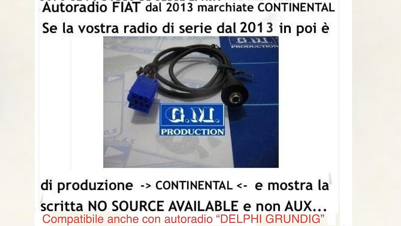 Cavo aux Fiat Panda 2014 no source available 2015 jack pannello