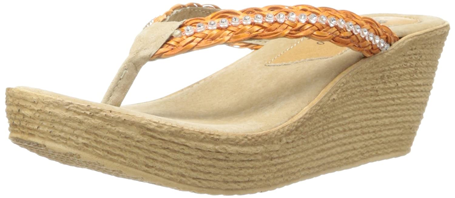 Sbicca Women's Ceviche Wedge Sandal B00GTMF0LM 7 B(M) US|Orange