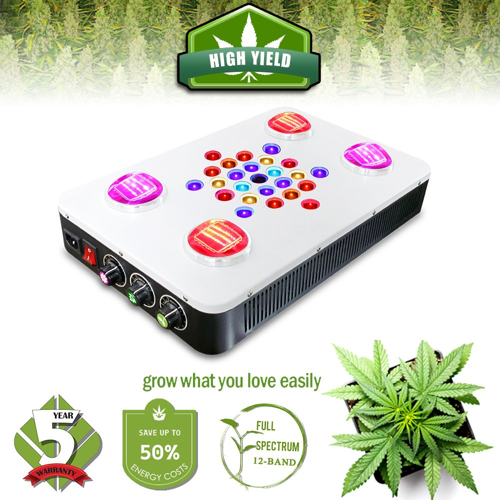 Grow Light for Plants Full Spectrum LED Growing Lamp for Marijuana 12 Band Dimmable COB BloomBeast C525 525w Hydroponic Greenhouse Lighting for Seedling/Veg/Flower/Bloom by BloomBeast