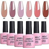 AIMEILI Soak Off UV LED Vernis à Ongles Gel Semi-Permanent Lot Color Mix/Multi-Colored Kit Set Ensemble de Couleurs 6 X 10ml - Set 30