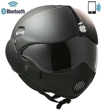 Casco de motocicleta abierto OSBE GPAÑO BLUETOOTHEADSET INTERCOM RADIO PHONE M + MASK