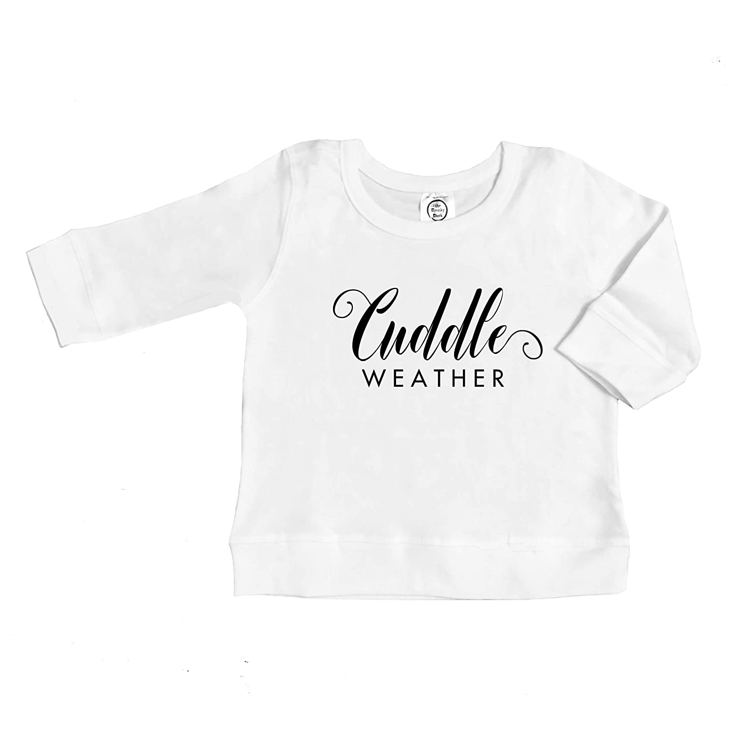 The Spunky Stork Cuddle Weather Organic Cotton Baby Toddler Unisex Long Sleeve Pullover Shirt