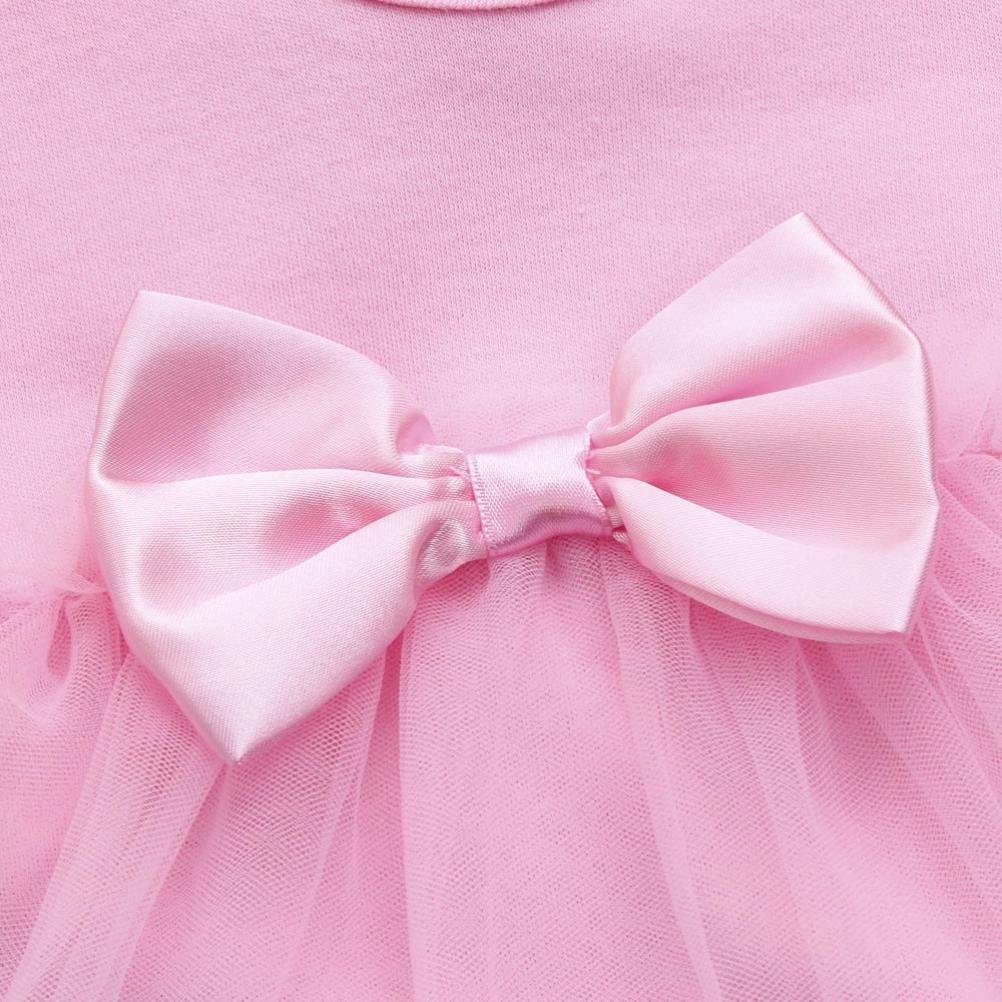 Toddler Infant Kids Girl Birthday Tutu Bow Jumpsuit Princess Romper Princess Party Dress Mandystore Baby Girl Dress