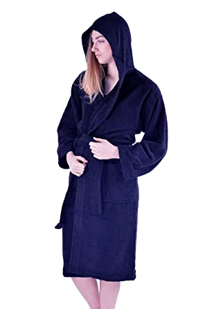 Amazon.com: Mens & Ladies 100% Cotton Terry Towelling Hooded Shawl ...