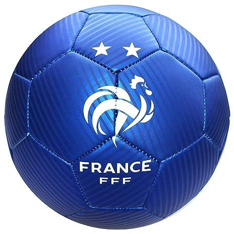 FFF - Balón de fútbol Oficial del Equipo de Francia - Azul: Amazon ...