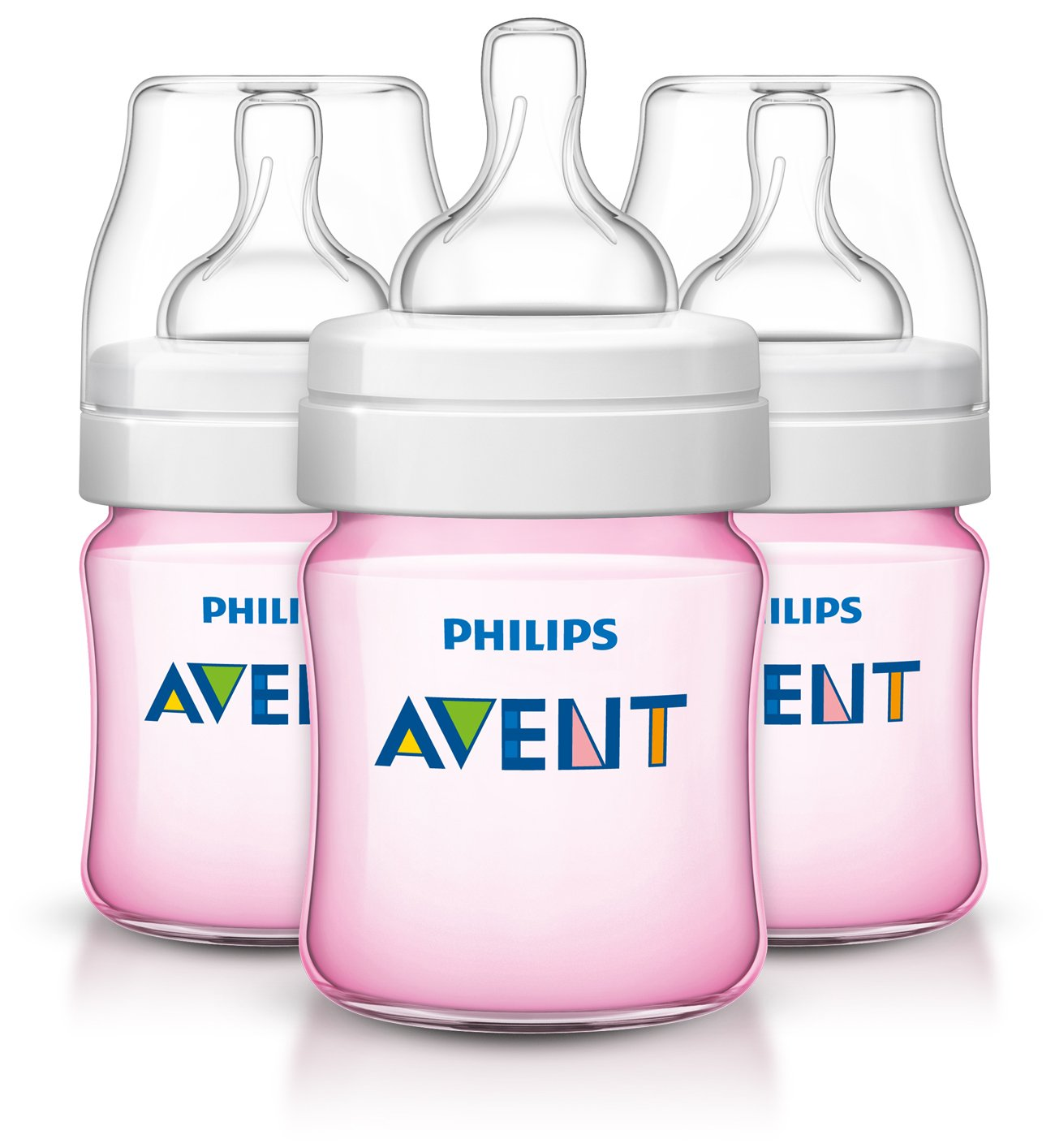 Philips Avent Anti-Colic BPA Free Baby Bottle, 4-OunceClear, 3-pack, SCF560/37