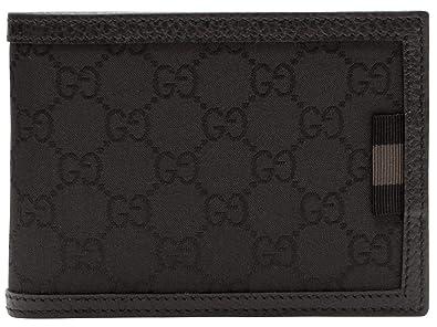 01b0f0598330 (グッチ) GUCCI 財布 二つ折り メンズ ブラック GGナイロン レザー 292534g1xwn8615 アウトレット限定モデル