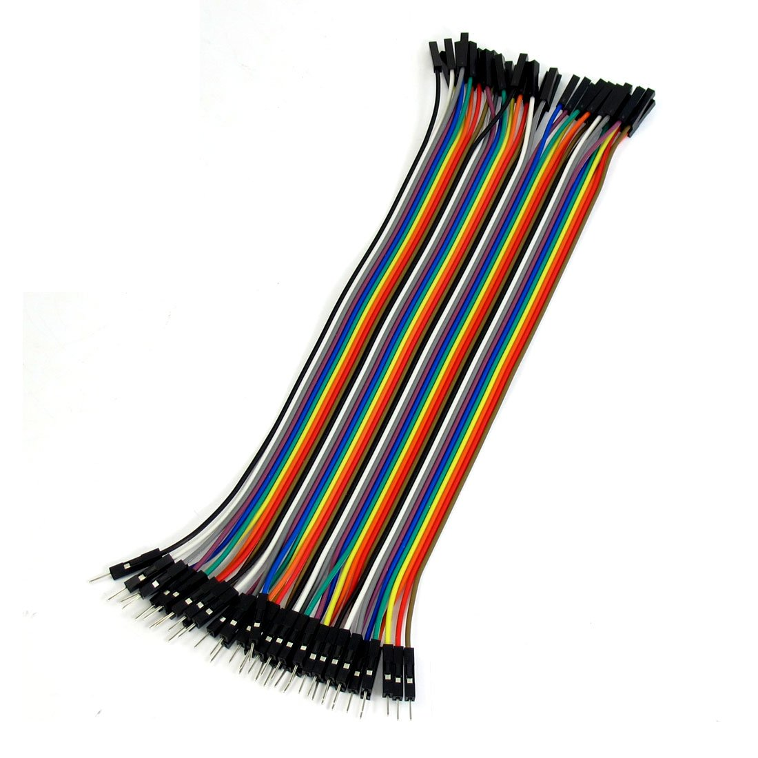 Uxcell a13040500ux0203 1 Pin Male to Female Jumper Cable Wires 20cm Long (Pack of 40)