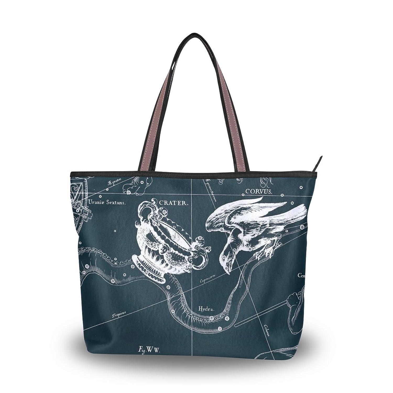 Lightweight Tote bag,Fantasy Constellation Graph Crater Corvus,handbag for Women