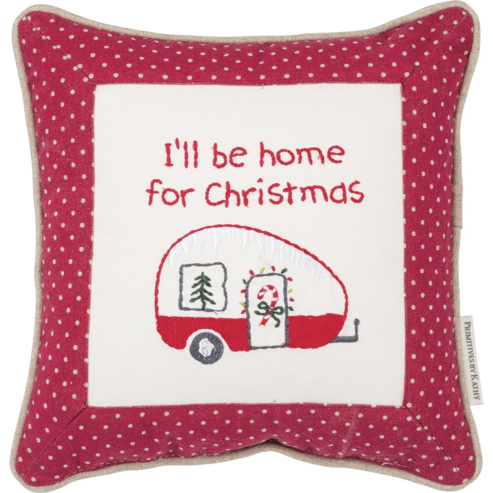 Amazon.com: Primitives by Kathy Embroidered I\'Ll Be Home for ...