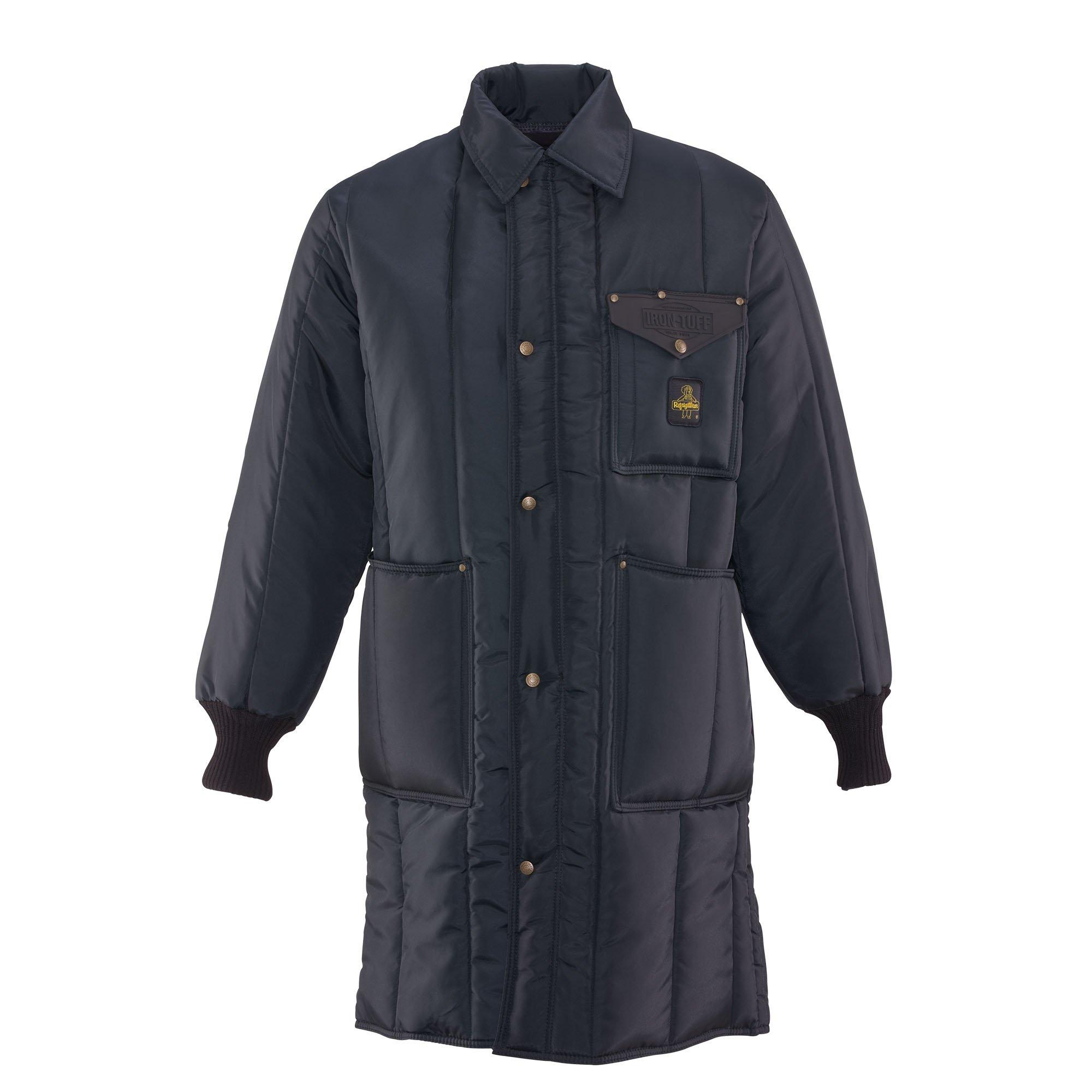 RefrigiWear Men's Iron-Tuff Inspector Coat, Navy 2XL