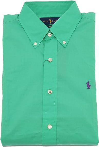 Ralph Lauren - Camisa Casual - para Hombre Verde X-Large: Amazon.es: Ropa y accesorios