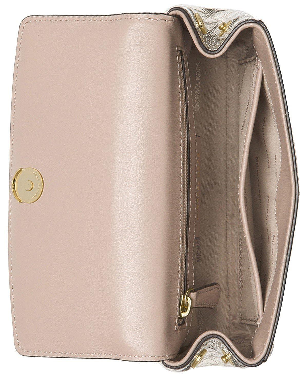 1258faa2bc5e MICHAEL Michael Kors Ava Mini Specchio Leather Crossbody Bag, Champagne:  Handbags: Amazon.com