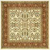 Cheap Safavieh Lyndhurst Collection LNH214R Traditional Oriental Ivory and Rust Square Area Rug (6′ Square)