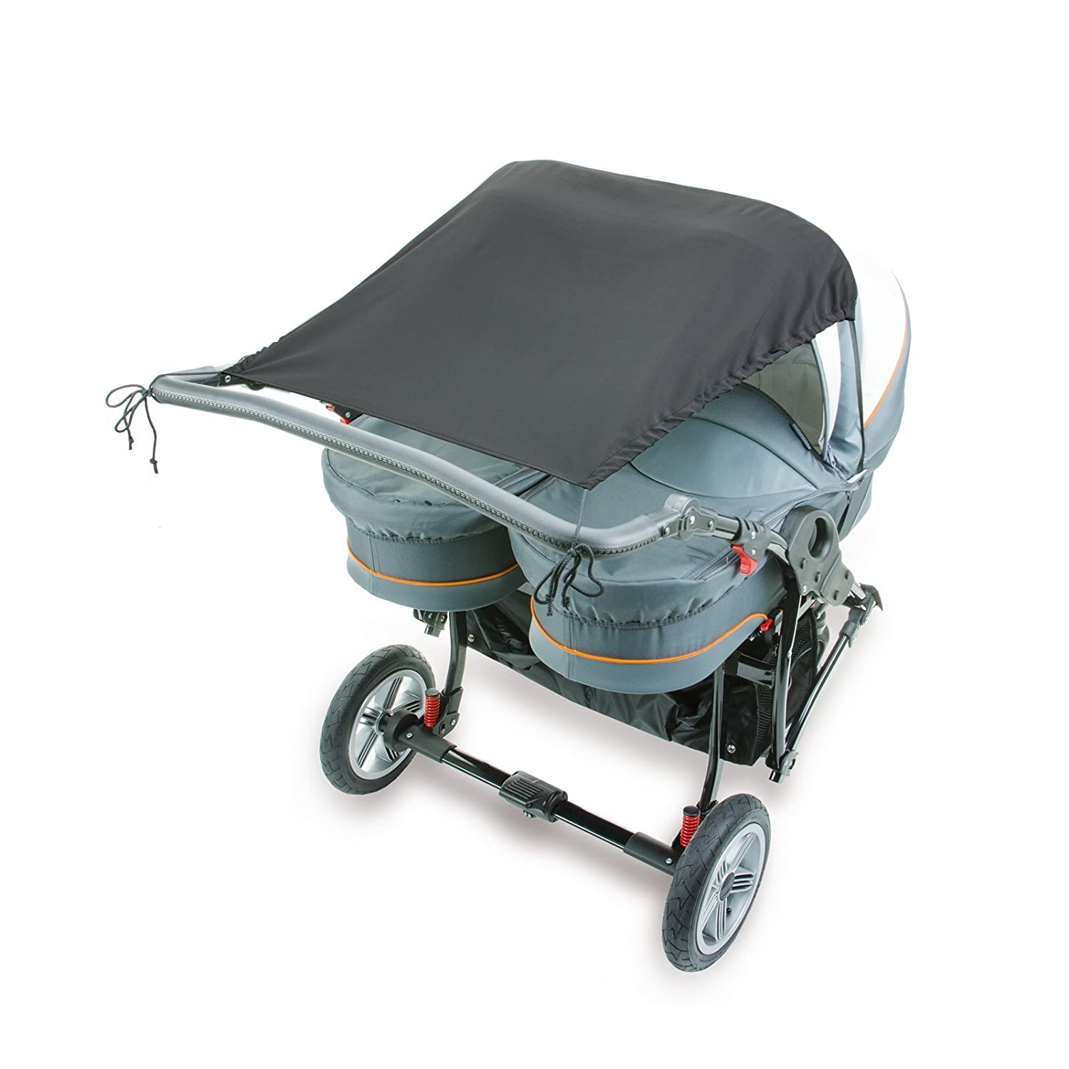 Diago UK Universal Twin Side By Side, Pram Awning Anthracite