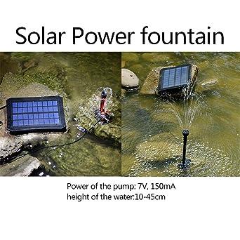 Teichpumpe Led Beleuchtung   Prokth Solar Springbrunnen Mit Led Leuchten Schwimmende Wasserpumpe