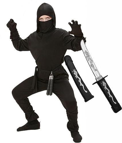 Amazon.com: Fiesta central niños Ninja disfraz con espada ...