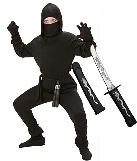 Party Central Boys Ninja Fancy Dress Costume With Sword Age 5 - 13 (Children: S)