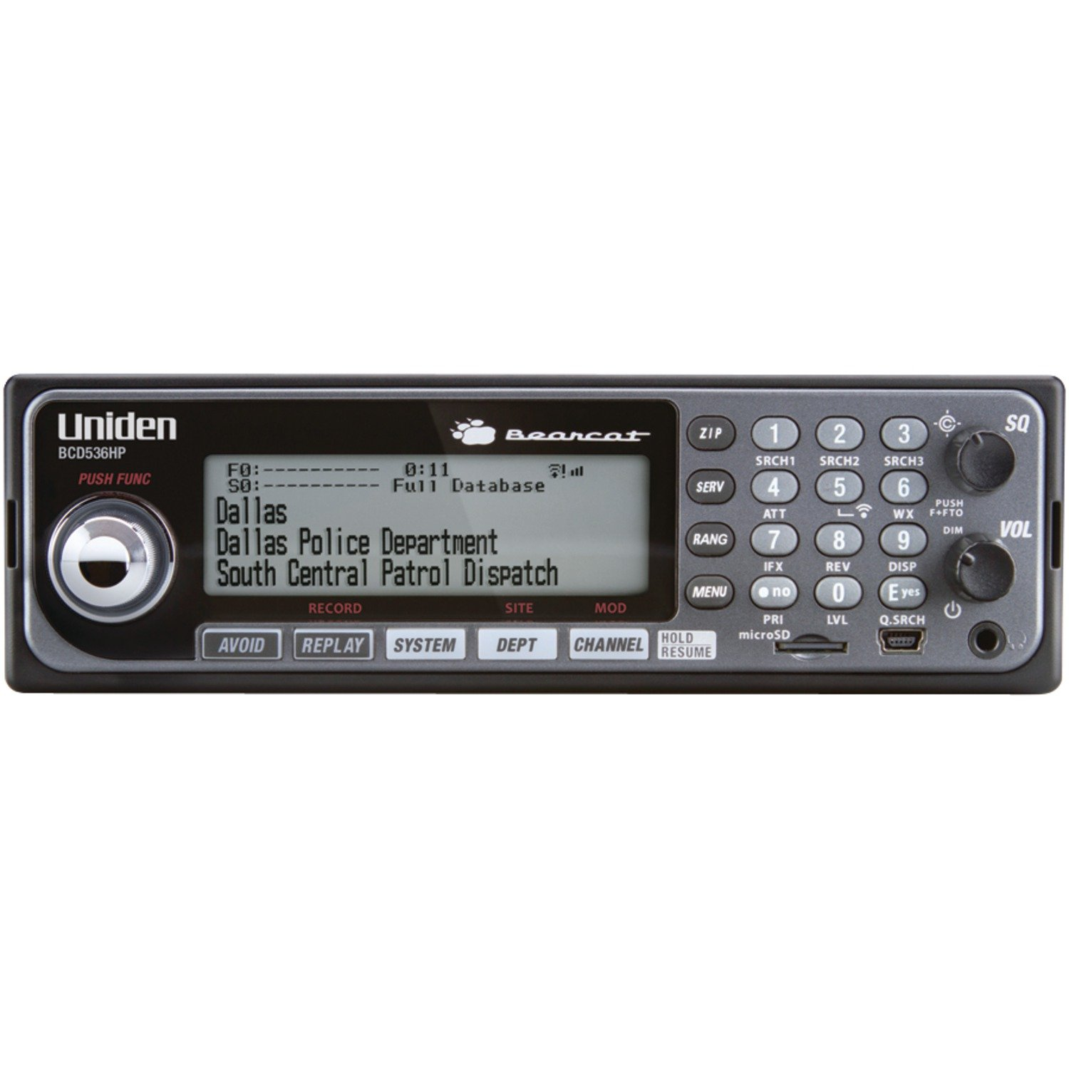 Uniden BCD536HP Digital Phase 2 Base/Mobile Scanner with HPDB and Wi-Fi by Uniden