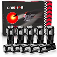 BRISHINE 194 LED Bulbs Extremely Bright Brilliant Red 5630 Chipsets 168 2825 175 T10 W5W LED Bulbs for Car Side Marker…