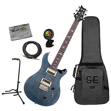 PRS CU2WB SE Custom 22 - Guitarra eléctrica con cable, soporte, tela, afinador: Amazon.es: Instrumentos musicales