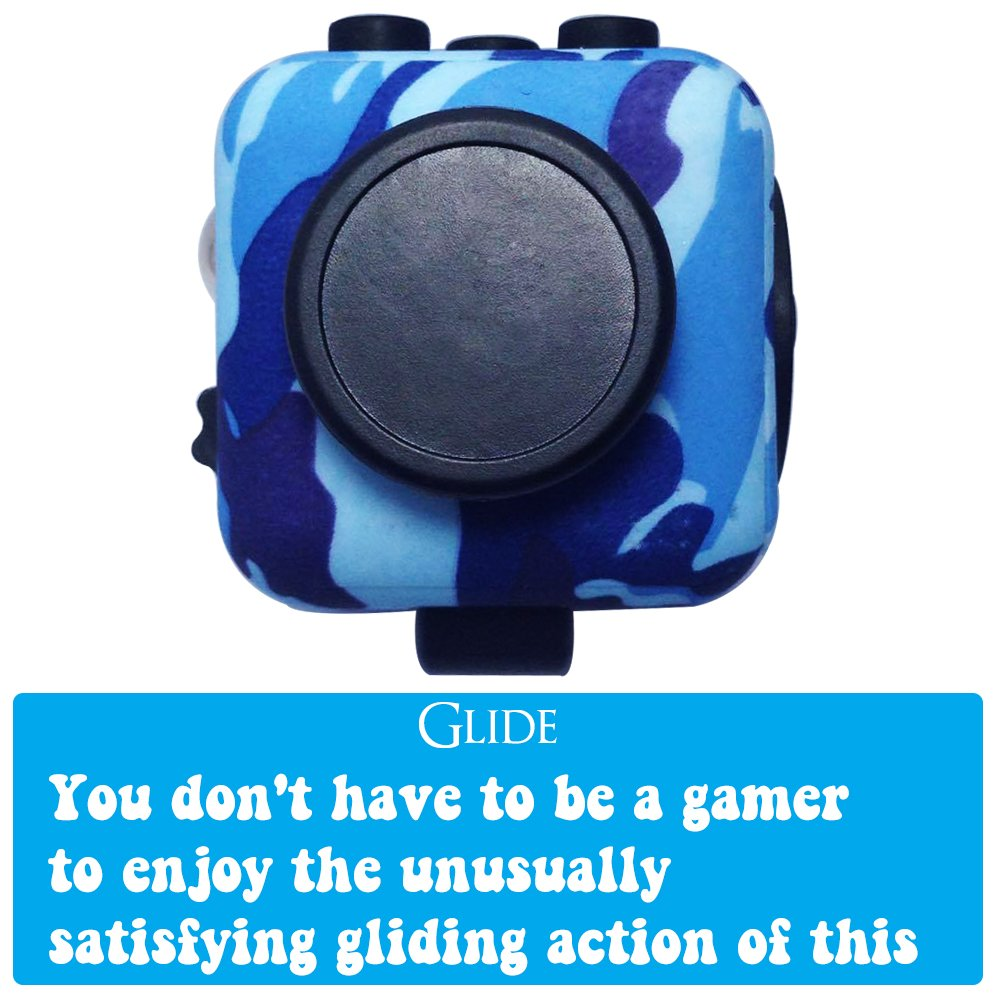 LvnWin Fidget Cube Dice Toy Stress Reducer Helps Focusing Relax Anti-Anxiety Boredom For ADD, ADHD, EDC, Kids and Autism Adult Children (Camo Blue) by LvnWin (Image #7)