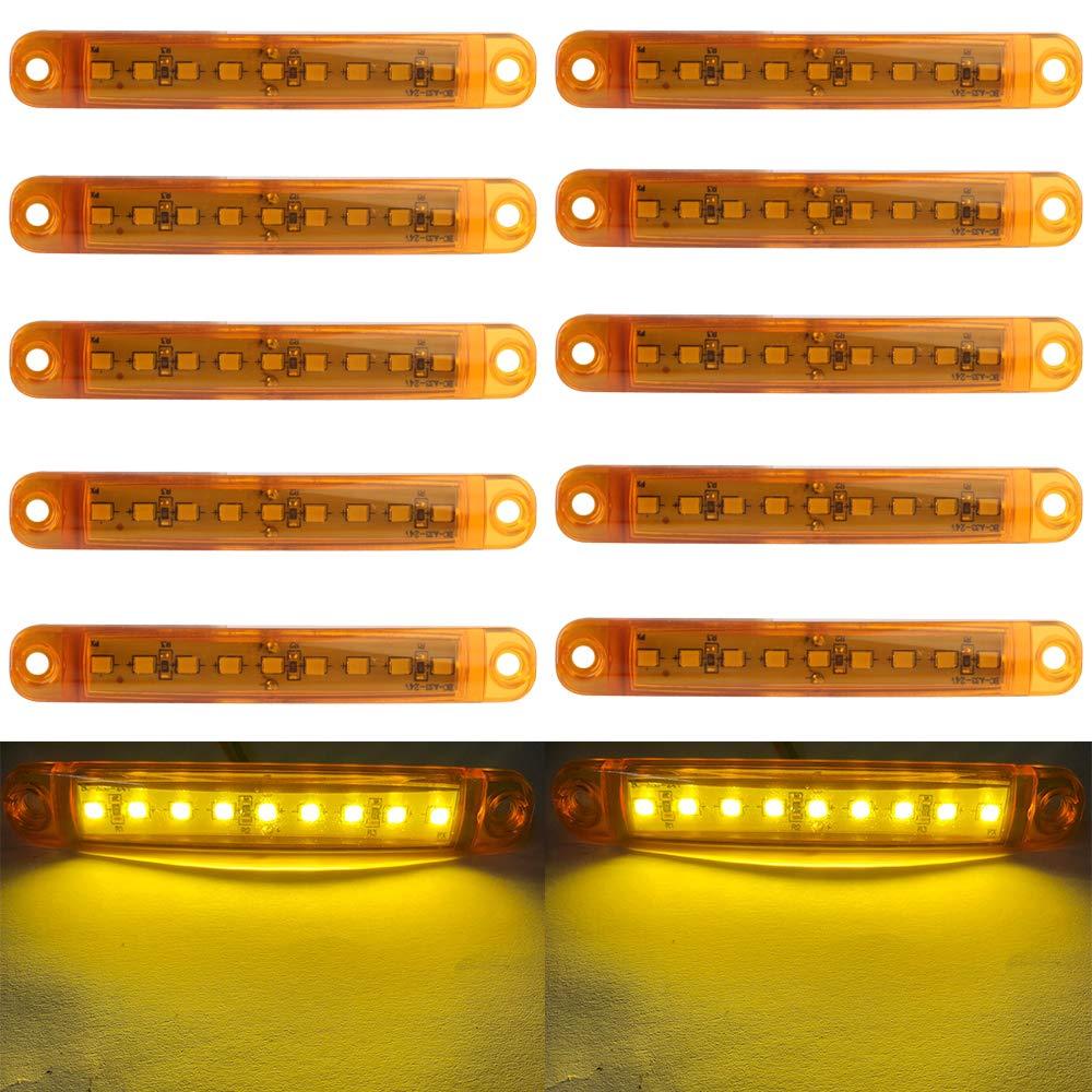 Azul 10 unides Luces de Posici/ón laterales 9 SMD LED Luces de Posici/ón laterales indicador lateral de se/ñal delantera trasera de luz 12V para auto camping van cami/ón remolque motocicleta