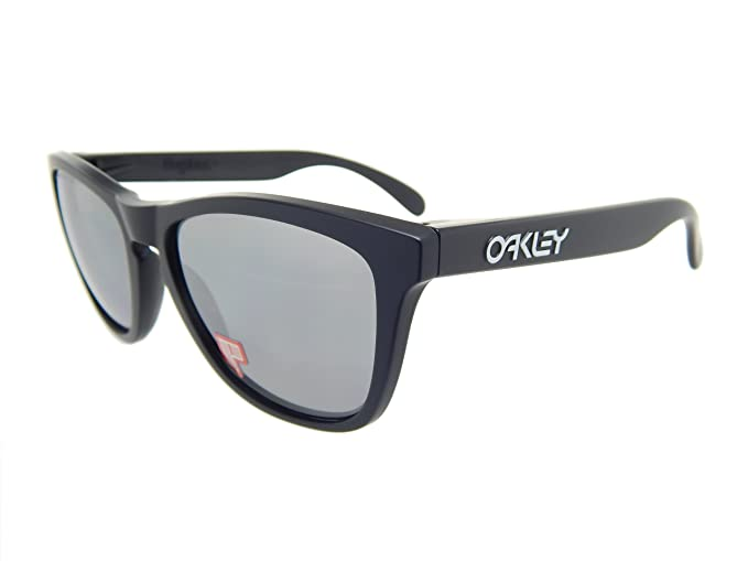 a97f77fa4f Image Unavailable. Image not available for. Colour  New Oakley Frogskins  24-297 Matte Black Black Iridium Polarized 55mm Sunglasses