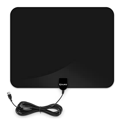 Aduro Amplified HD Digital TV Antenna, 50 Miles Ultra Thin Indoor Antenna Support 4K 1080P